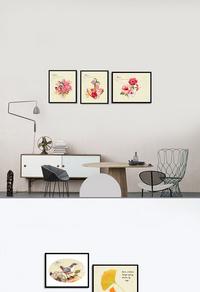 复古花卉装饰画下载