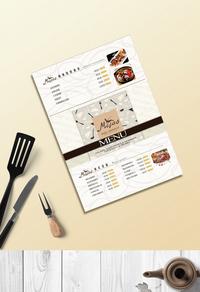 高档饭店菜单价目表模板设计下载