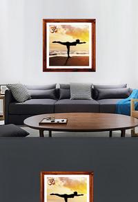 高清瑜珈装饰画模板