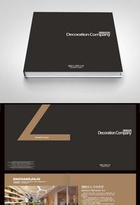 黑色高档装饰装修公司设计画册