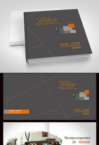 灰色高档装饰公司画册设计