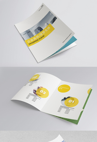 白色简约集团宣传画册设计
