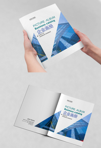 蓝色简约集团宣传册设计
