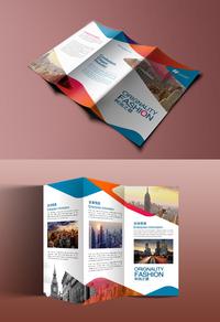 精美创意公司三折页模板设计下载