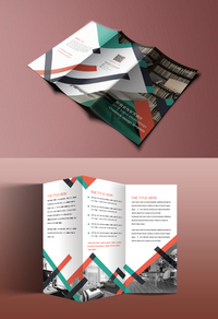 精美创意公司三折页模板设计