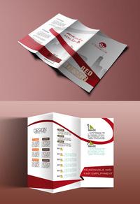 精品创意公司三折页模板设计下载