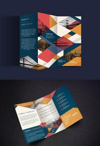 时尚精美企业三折页模板设计
