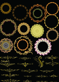 多组欧式花纹边框素材