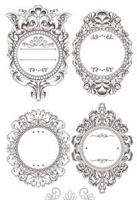 复古经典欧式花纹边框