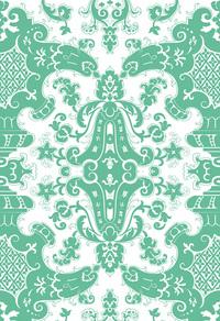 绿色矢量精美欧式纹路背景