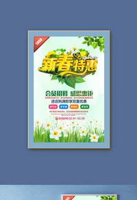 新春特惠促销宣传海报