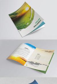 古典简约企业画册