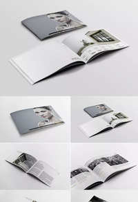 时尚简约企业宣传画册