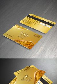 金色会员卡模板