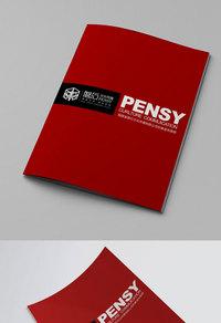 红色精美企业宣传册