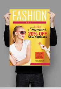 精美时尚杂志宣传海报