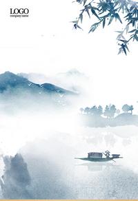 古风传统山水背景图