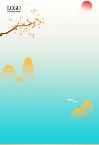 清新唯美山水背景图