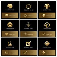 金色质感商标设计1