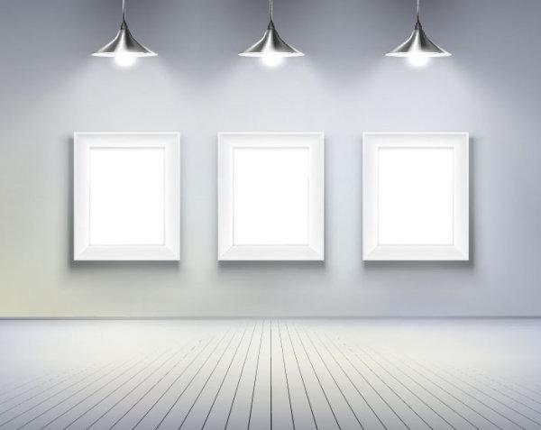 灯光下的画框1