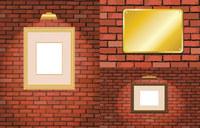 砖墙和相框