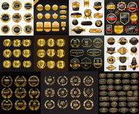 金质标签矢量