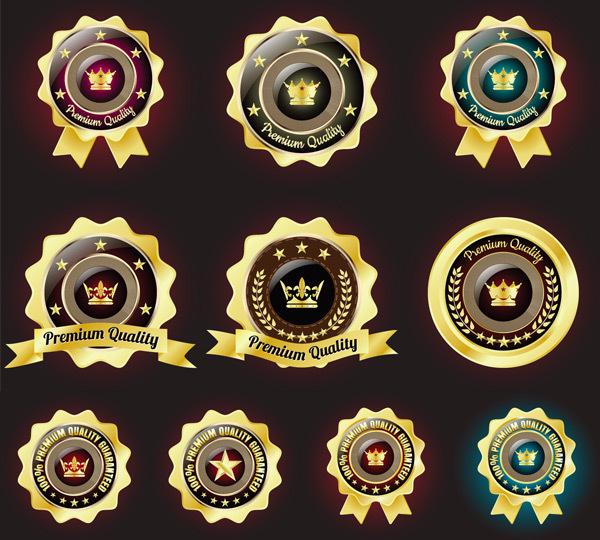 金质圆形标签