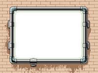 壁上的水管画框