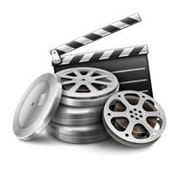 场记板和电影胶片矢量图