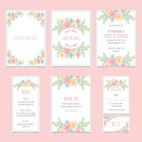 7款素雅花卉卡片设计