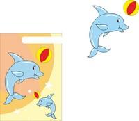 卡通矢量海豚素材