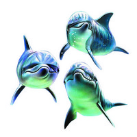 免抠素材三只海豚