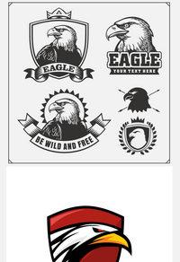 5款鹰标徽章标志矢量素材