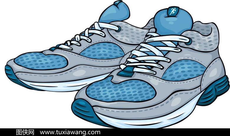 手绘运动鞋素材