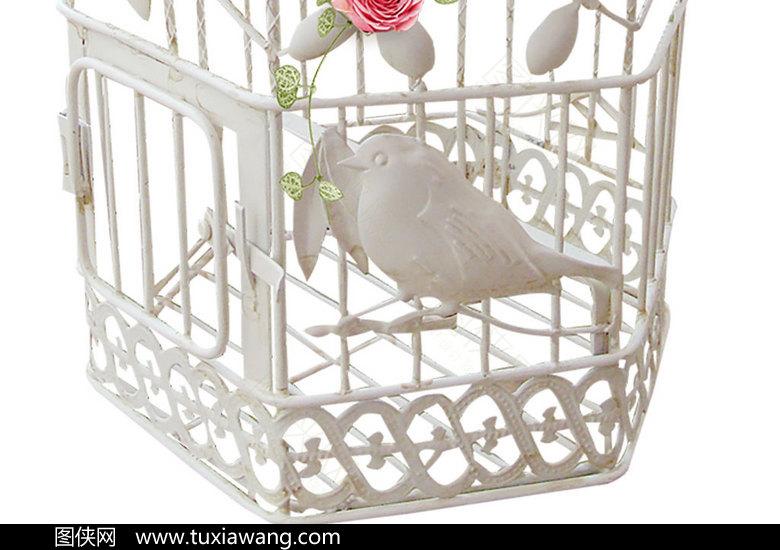 白色欧式鸟笼