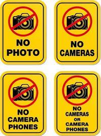 禁止拍照标志