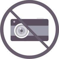 矢量素材禁止拍照标志下载
