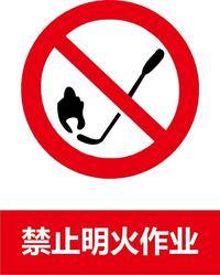 禁止明火标志