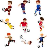 足球运动员卡通矢量素材