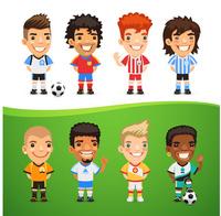 创意足球运动员矢量素材