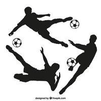 足球运动员剪影合集