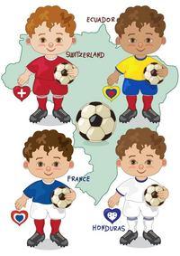 手绘足球运动员