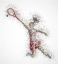 羽毛球运动员矢量素材