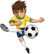 手绘足球运动员素材