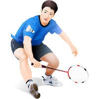 羽毛球运动员设计素材