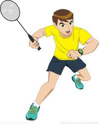 羽毛球运动员卡通素材