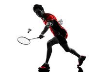 羽毛球运动员素材