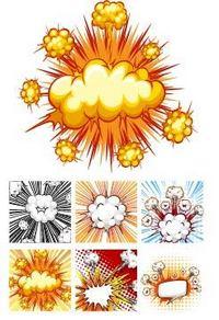 爆炸素材设计元素下载