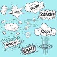 爆炸对话框设计素材