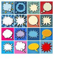各种爆炸会话设计素材